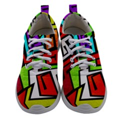 Graffitti Pattern Athletic Shoes by designsbymallika