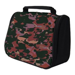 Red Dark Camo Abstract Print Full Print Travel Pouch (small) by dflcprintsclothing