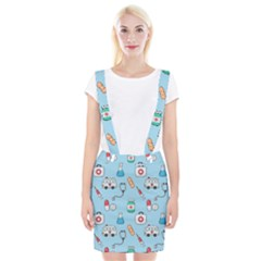 Medical Seamless Pattern Braces Suspender Skirt