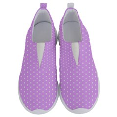 White Polka Dot Pastel Purple Background, Pink Color Vintage Dotted Pattern No Lace Lightweight Shoes