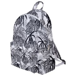 Black And White Leafs Pattern, Tropical Jungle, Nature Themed The Plain Backpack by Casemiro