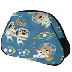 Seamless Pattern Funny Astronaut Outer Space Transportation Full Print Accessory Pouch (big)