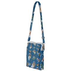 Seamless Pattern Funny Astronaut Outer Space Transportation Multi Function Travel Bag