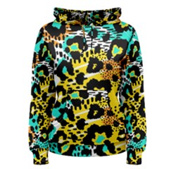 Seamless Leopard Wild Pattern Animal Print Women s Pullover Hoodie by Bejoart