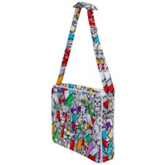 Graffiti Characters Seamless Pattern Cross Body Office Bag