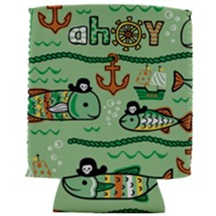 Seamless Pattern Fishes Pirates Cartoon Can Holder by Bejoart