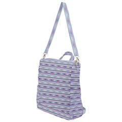 Pastel Lines, Bars Pattern, Pink, Light Blue, Purple Colors Crossbody Backpack by Casemiro