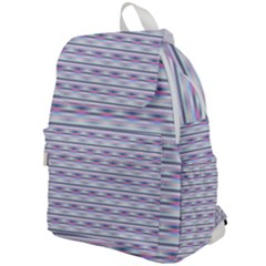 Pastel Lines, Bars Pattern, Pink, Light Blue, Purple Colors Top Flap Backpack by Casemiro
