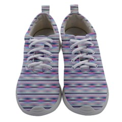 Pastel Lines, Bars Pattern, Pink, Light Blue, Purple Colors Athletic Shoes by Casemiro