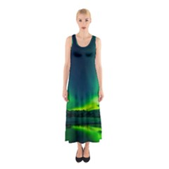 Iceland Aurora Borealis Sleeveless Maxi Dress