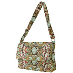 Multicolored Modern Collage Print Full Print Messenger Bag (l) by dflcprintsclothing