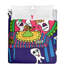 Circus Ghosts Digital Duvet Cover Double Side (full/ Double Size)
