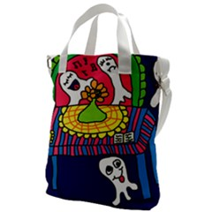 Circus Ghosts Digital Canvas Messenger Bag
