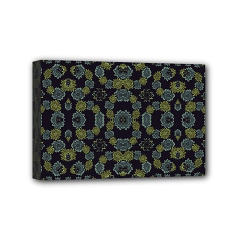 Modern Ornate Stylized Motif Print Mini Canvas 6  X 4  (stretched)