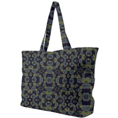 Modern Ornate Stylized Motif Print Simple Shoulder Bag