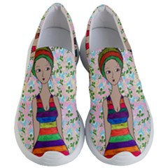 Tan Swimmer Flowerwall Women s Lightweight Slip Ons by snowwhitegirl