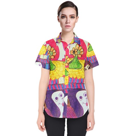 Circus Ghosts Women s Short Sleeve Shirt by snowwhitegirl