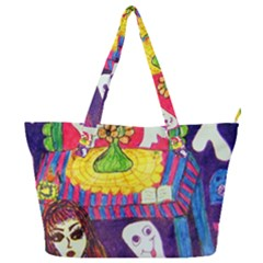 Circus Ghosts Full Print Shoulder Bag by snowwhitegirl