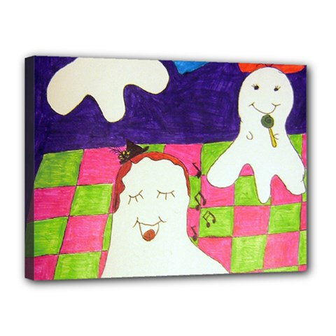 Circus Ghosts Sing Canvas 16  X 12  (stretched) by snowwhitegirl