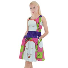 Circus Ghosts Sing Knee Length Skater Dress With Pockets by snowwhitegirl