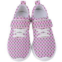 Headphones Girl Pink Women s Velcro Strap Shoes