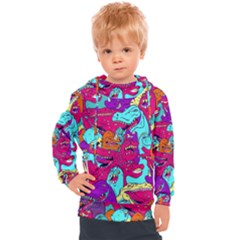 Dinos Kids  Hooded Pullover by Sobalvarro