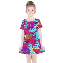Dinos Kids  Simple Cotton Dress by Sobalvarro