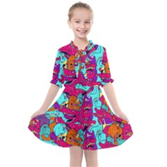 Dinos Kids  All Frills Chiffon Dress by Sobalvarro