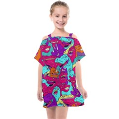 Dinos Kids  One Piece Chiffon Dress by Sobalvarro