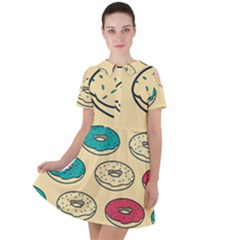 Donuts Short Sleeve Shoulder Cut Out Dress  by Sobalvarro