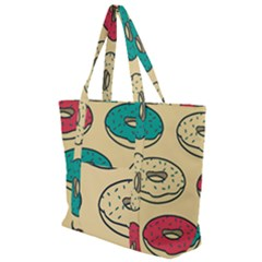 Donuts Zip Up Canvas Bag by Sobalvarro