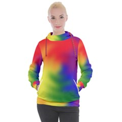 Rainbow Colors Lgbt Pride Abstract Art Women s Hooded Pullover