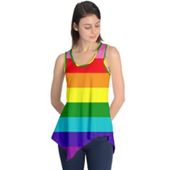 Original 8 Stripes Lgbt Pride Rainbow Flag Sleeveless Tunic