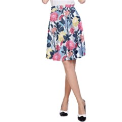 Beautiful Floral Pattern A-line Skirt by TastefulDesigns