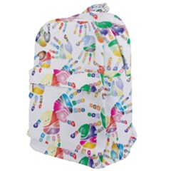 Colorful Palms, Hand Print Pattern, Rainbow Colors Palette Classic Backpack by Casemiro
