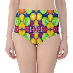 Fruits And Vegetables Pattern Classic High-waist Bikini Bottoms