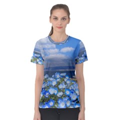 Floral Nature Women s Sport Mesh Tee