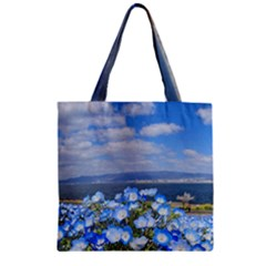 Floral Nature Zipper Grocery Tote Bag