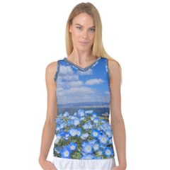 Floral Nature Women s Basketball Tank Top