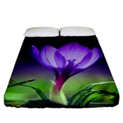 Flower Fitted Sheet (king Size)