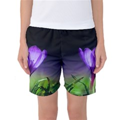 Floral Nature Women s Basketball Shorts