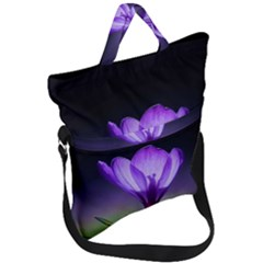 Floral Nature Fold Over Handle Tote Bag