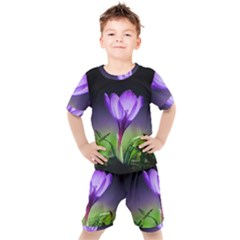 Floral Nature Kids  Tee And Shorts Set by Sparkle
