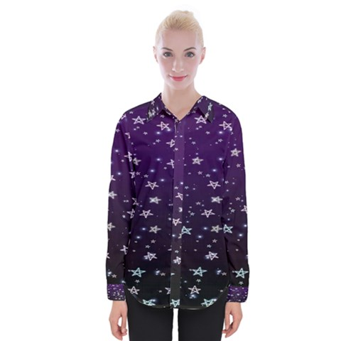 Stars Womens Long Sleeve Shirt by Sparkle