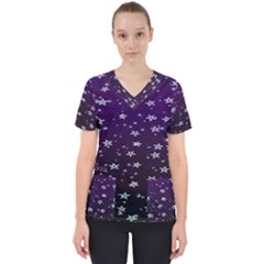 Stars Women s V-neck Scrub Top