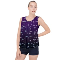 Stars Bubble Hem Chiffon Tank Top