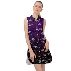 Stars Sleeveless Shirt Dress by Sparkle