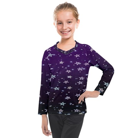 Stars Kids  Long Mesh Tee by Sparkle