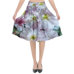 Pinkfloral Flared Midi Skirt by Sparkle