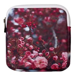 Red Floral Mini Square Pouch